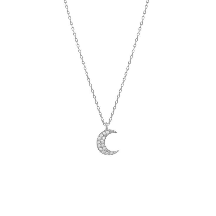 Sienna Moon - Shine with this beautiful creacent moon delicate pave necklace. It is a reminder that we are all connected. Look up at the dark sky to find light and see the beautify beyond the challenges that are right in front of you in your everyday routine.