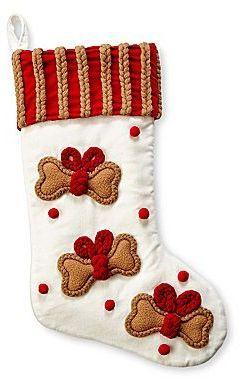MarthaHolidayTM Velvet Pet Christmas Stocking