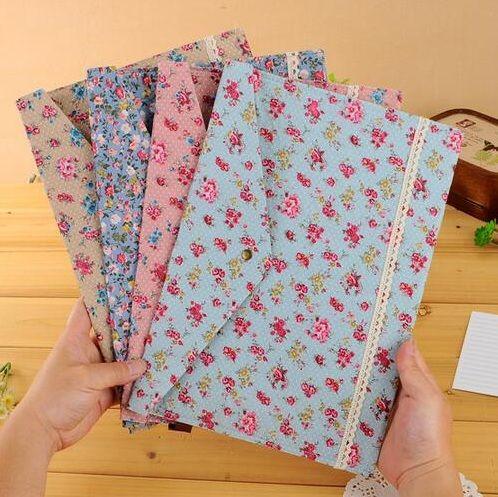 1pcs/lot Vintage A4 documents file bag felt cotton file bags  dots garden flower lace series stationery Filing Production