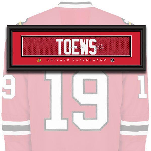 Chicago Blackhawks - Jonathan Toews - NHL Jersey Name Patch