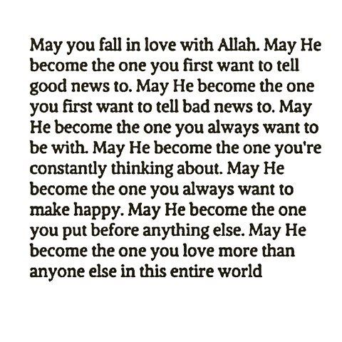 Ya Allah I love you so much ❤ ya allaah only u understands me