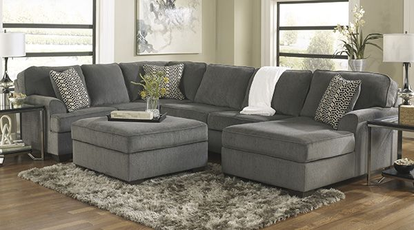 Loric Smoke Living Room Group By Ashley Home Furnishings