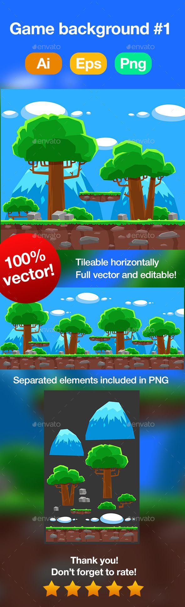 Platformer Game Background #1 Download here: https://graphicriver.net/item/platformer-game-background-1/19423722?ref=KlitVogli