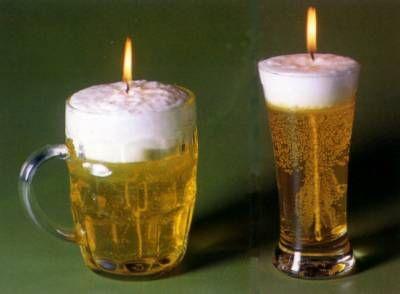 Beer Gel Candles