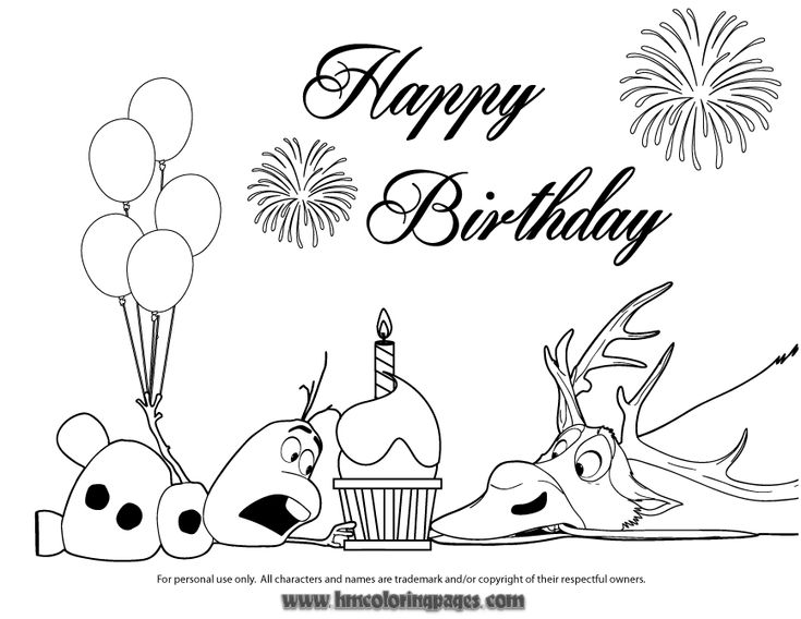 olaf and sven fight for cupcake coloring page - Sven Reindeer Coloring Pages