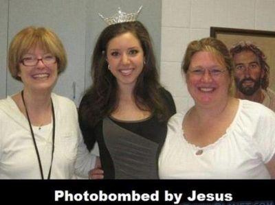 Photobombed by Jesus!