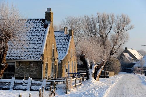 Sprookjesachtig: Terschelling in de winter... Foto: H. Drost