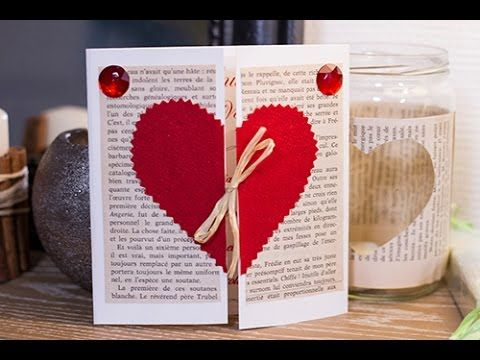 #DIY Saint-Valentin : carte ou menu d'#amoureux #valentinesday