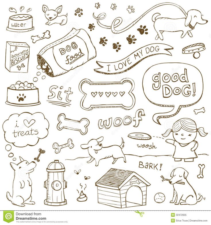Dog Doodles - Download From Over 50 Million High Quality Stock Photos, Images, Vectors. Sign up for FREE today. Image: 32472605