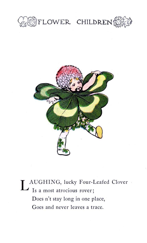 Flower Children By Elizabeth Gordon Vintage Reproduction Photo Print No # 36 of 84 by A4Printsuk on Etsy