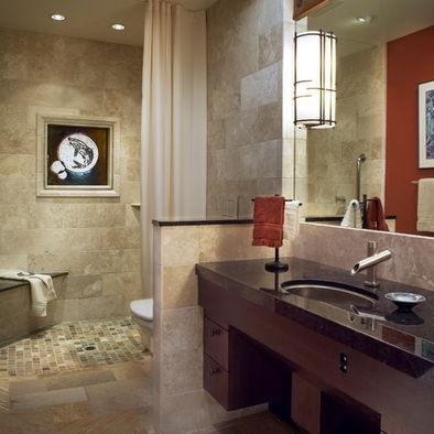 Open Shower Design Beautiful Bathroom Ideas