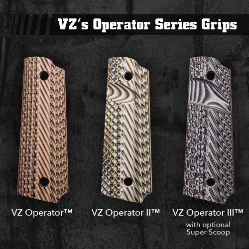 The VZ Grips Operator series comes in 3 different textures