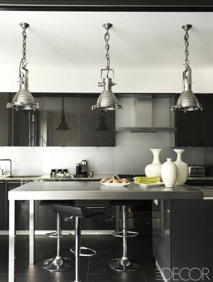 Hostess and fashion plate rena abbouds black and white kitchen is perfect for elegant