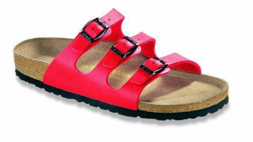 Cool Birkenstock Florida Birko-Flor Cherry Red comfortable Unisex Sandals