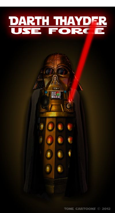 #Dalek #DoctorWho #StarWars Day 208: The Dalek Side IIIExterminate, Doctors Who Xxx, Dalekt, Dalek Side, Darth Dalek, Dark Side, Darth Thayder, Doctors Whoxxx, Side Iii