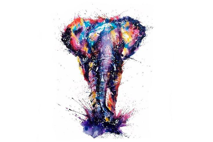 Watercolor Elephant Tattoo #tattooremovalcost