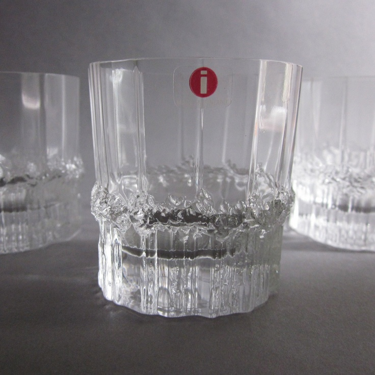 Iittala 'Pallas' by Tapio Wirkkala. I was going to make these my everyday glasses, until I discovered how rare they are. Back in the box they go.