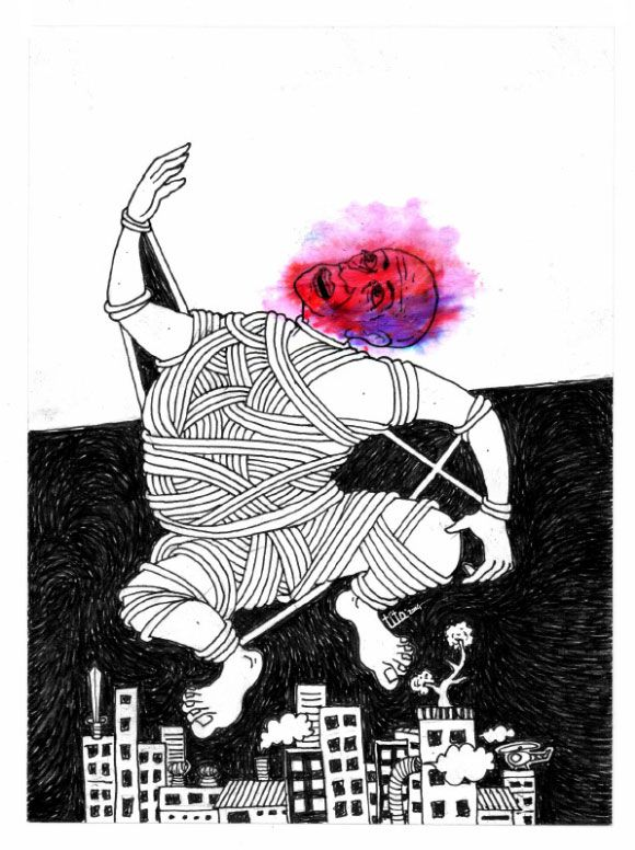 Angel Ngentut - Pen Drawing on Paper