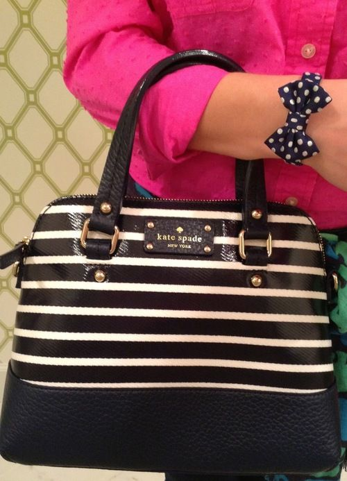 Black and White Designer Handbag by Kate Spade Stylexotic