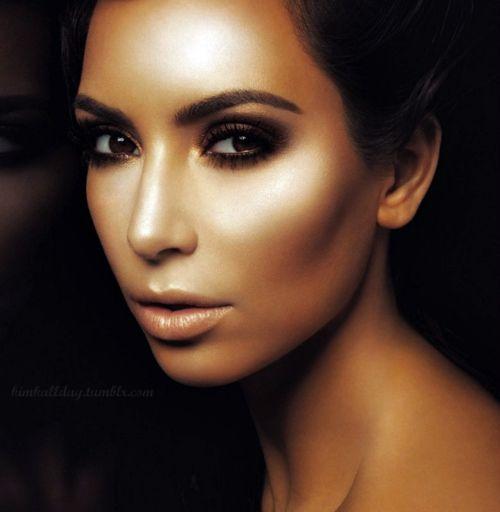 Illuminated Contouring on Kim Kardashian