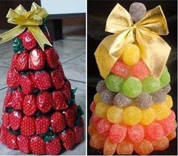 Aperitivos de Natal - Árvores para comer - * Decoração e Invenção *