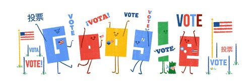 U.S. Elections 2016: Find your polling place! | Google Doodle 11/07/2016