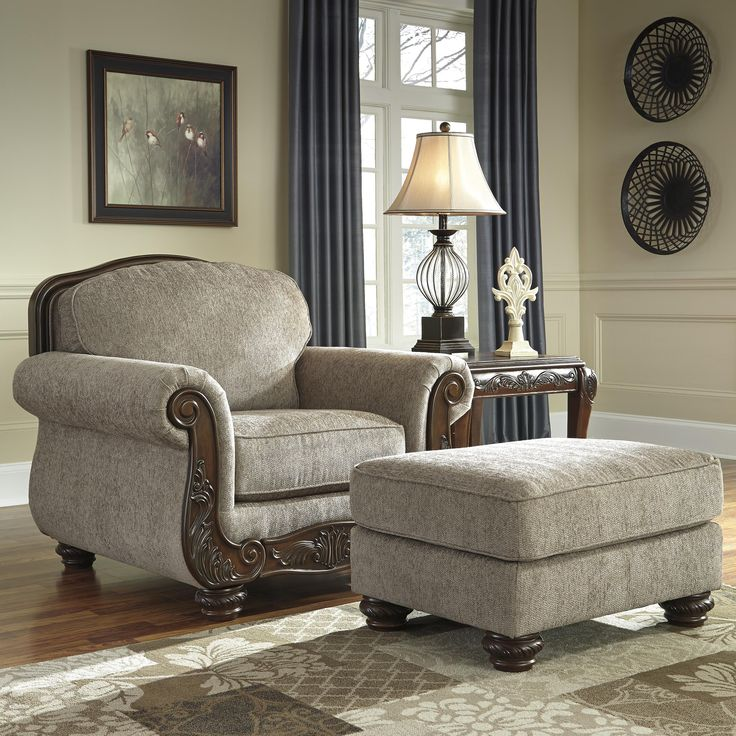 Chair U0026 Ottoman Cecilyn (by Signature Design By Ashley) Cecilyn Traditional  Chair U0026 Ottoman. Living Room ...