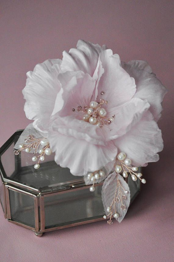 Pink Fascinator, couture flowers, hair clip