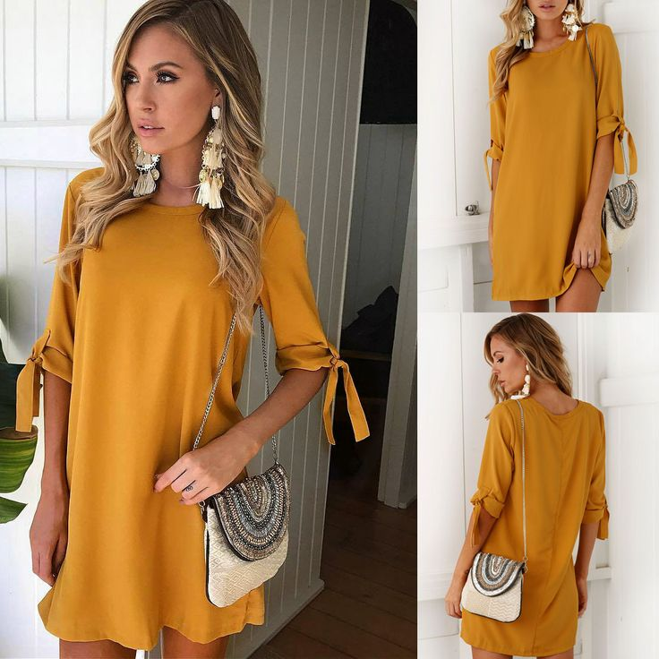 Women Bowknot Short Sleeve Mini Bodycon Tops Casual Loose Long Party Cocktail Blouse Sundress Outfits Clubwear Clothes Vestido-in Blouses & Shirts from Women's Clothing & Accessories on Aliexpress.com | Alibaba Group