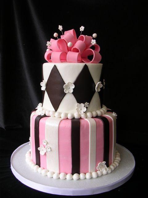 Pinterest Tiffany Bday Cake With Happy Birthday Cake Topper