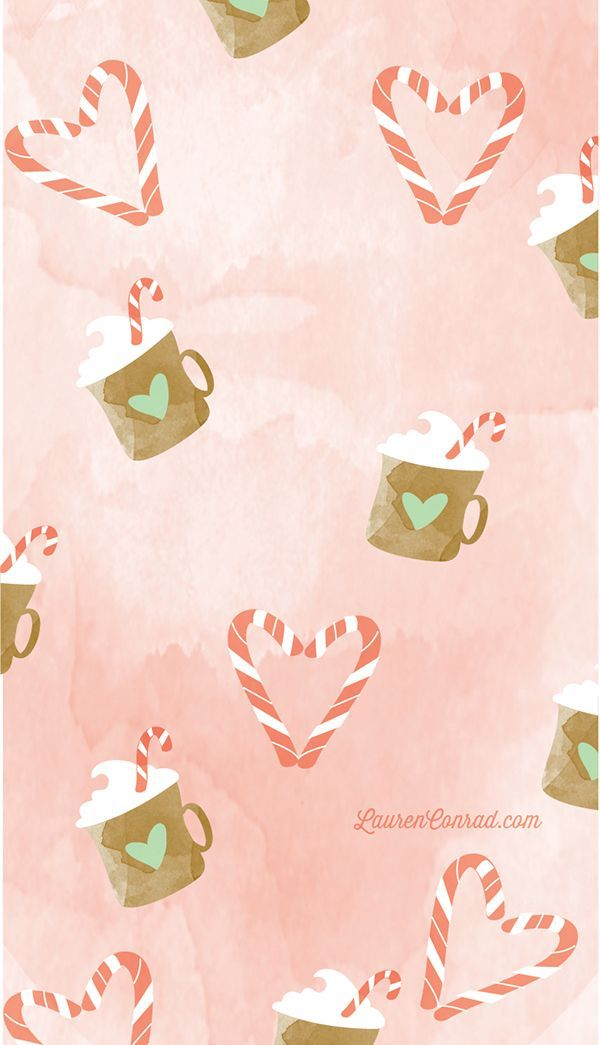 Peppermint Cocoa tech wallpaper by YellowHeartArt on