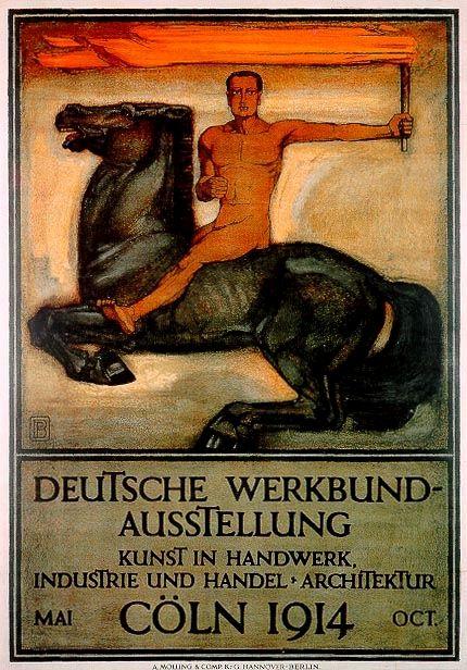 Plakat für die Ausstellung des Deutschen Werkbundes in Köln 1914; Entwurf: Peter Behrens; Lithographie/Steindruck: A. Molling & Comp. KG Hannover-Berlin