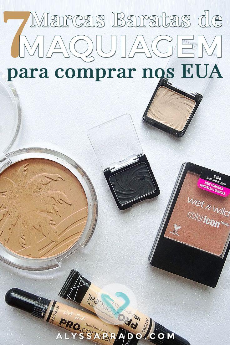 Vai para os Estados Unidos e quer fazer umas comprinhas de beleza? Então conheça nesse post 7 marcas baratinhas e de muita qualidade: http://alyssaprado.com/7-marcas-de-maquiagem-baratinhas-eua/
