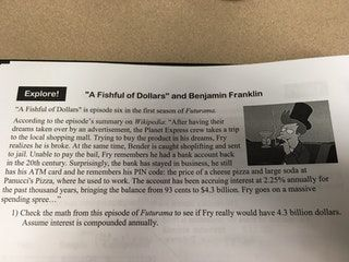 Futurama is referenced in my math textbook : mildlyinteresting