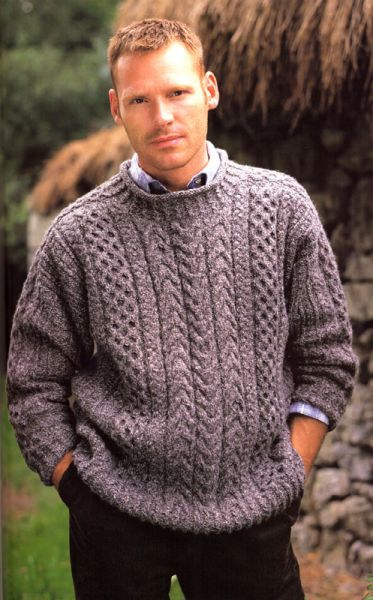 Mens fashion Nacraga aran sweater
