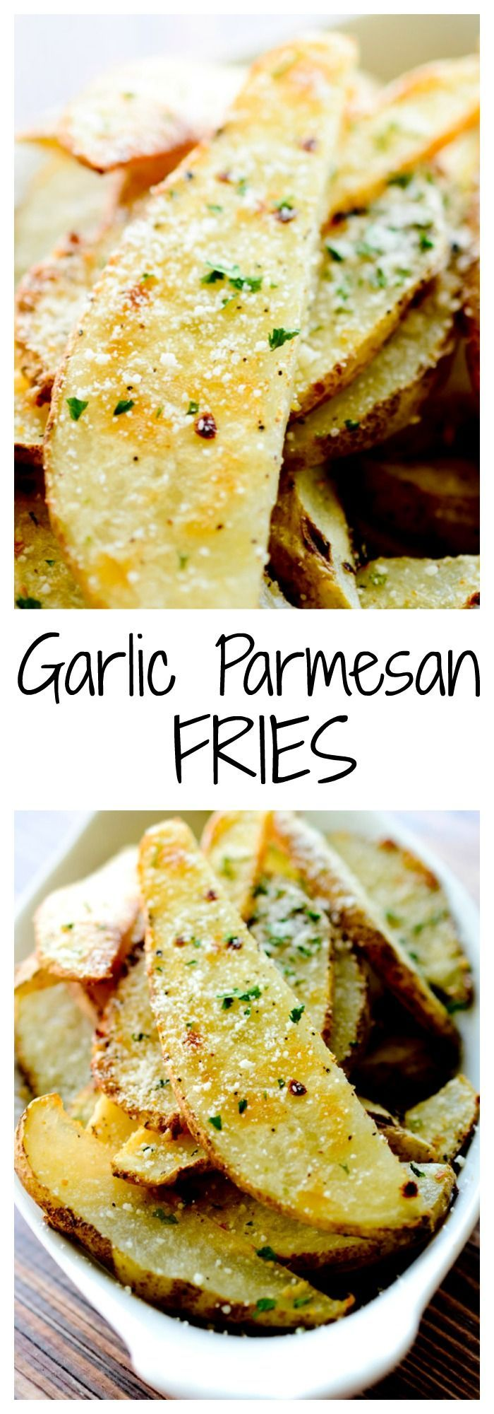 Garlic Parmesan Fries - great on their own or with a meal! @jgisvold01