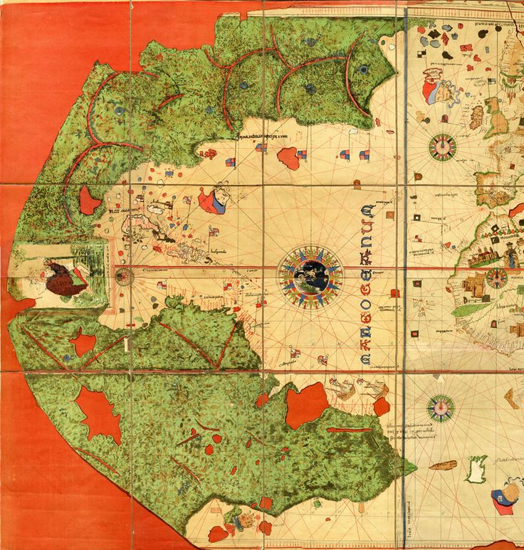 Juan de la Cosa's Mappa Mundi (Map of the World) (c. 1500) The earliest European artographic work to depict the Americas.