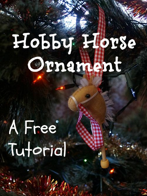 Tanith Rowan: Hobby Horse Christmas Tree Ornaments - a Free DIY tutorial. These are easy to make and are great for using up fabric scraps, bits of ribbon etc.