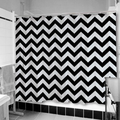 Charming Black And White Chevron Shower Curtain Gallery - Today ...
