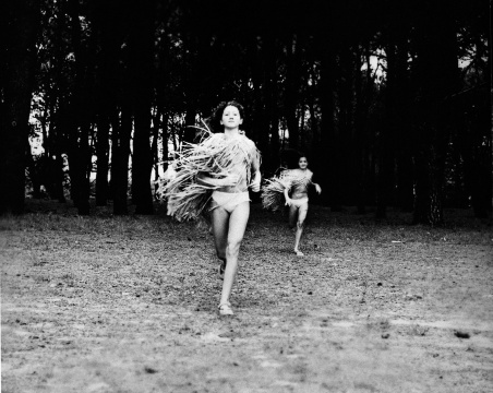 Cherine FAHD (b. Australia 1974)  'Madeleine and Stephanie' from the series 'A woman runs'  2003  gelatin silver print  50.0 x 60.0 cm  Monash Gallery of Art, City of Monash Collection  donated by the artist 2011  MGA 2012.014  reproduction courtesy of the artist [click through for a curator's statement on the work]