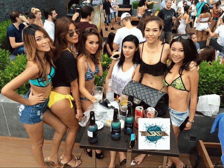 2015.05 May 5 star Wet Pool Party w/ Tall Sasha and Ornny Princess at Radisson Blu Plaza Hotel Bangkok, Thailand