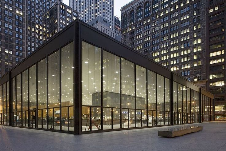 Ludwig Mies van der Rohe Post Office, The Windy City, Chicago.❥