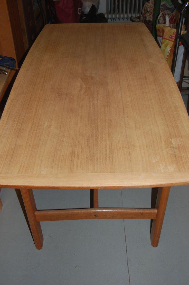 Att renovera ett teakbord