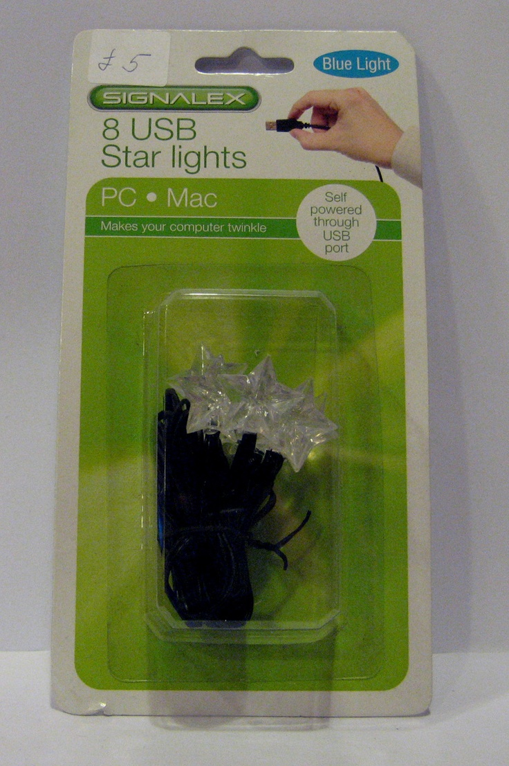 8 USB Star lights.  Makes your computer twinkle.  Self powered through the USB port. £5.00