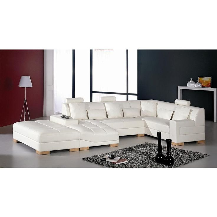 Paris Transitional Tufted White Leather Sectional Sofa: 25+ Best Ideas About Leather Sectional Sofas On Pinterest