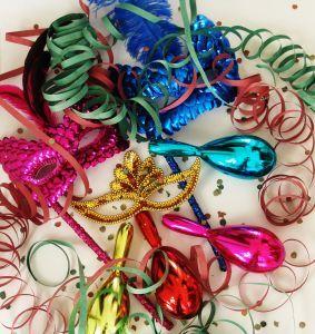 Decoração temática de carnaval para festa.