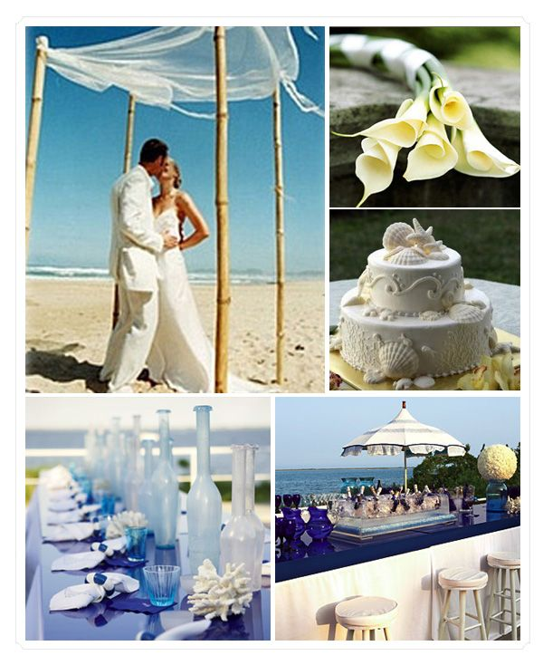 Beach Wedding Reception Ideas: 1000+ Images About Blue Beach Wedding On Pinterest