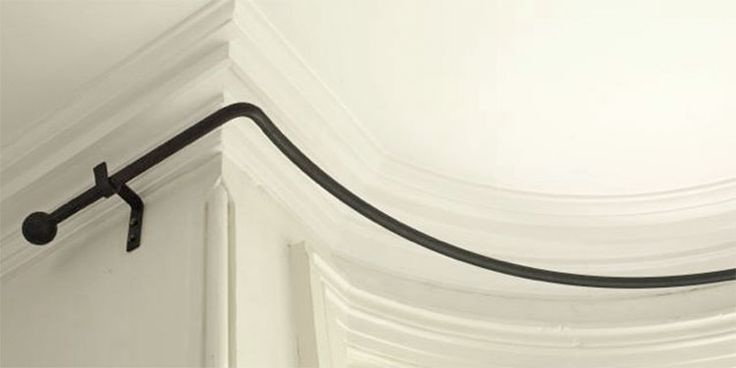 solid iron bay window curtain poles - made to measure