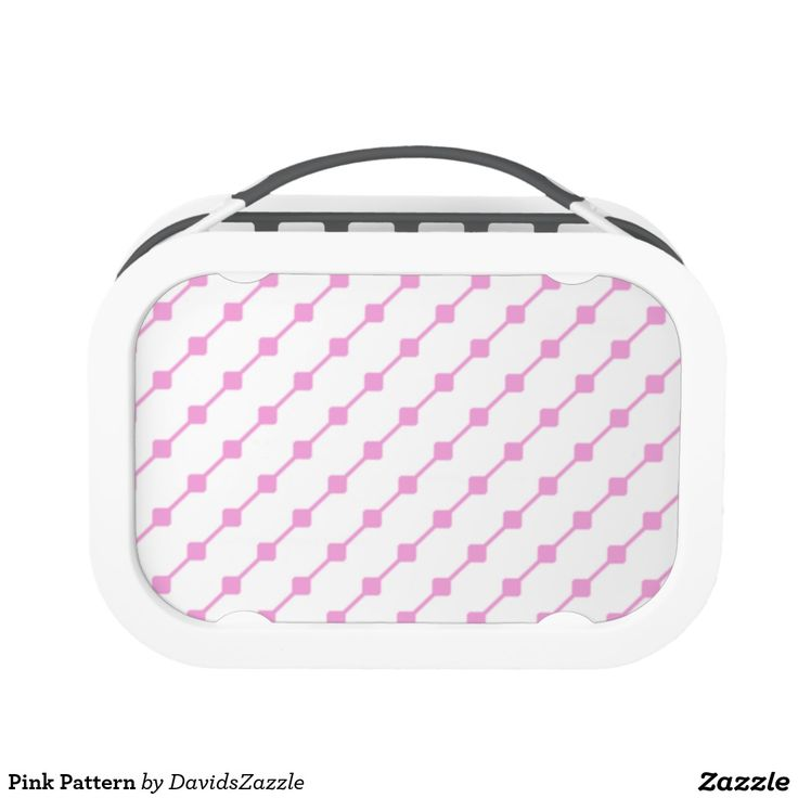 Pink Pattern Lunch Box  Available on many more products! Type in the name of this design in the search bar on my Zazzle products page!   #abstract #art #pattern #design #color #accessory #accent #zazzle #buy #sale #kitchen #dining #home #decor #entertain #serving #guest #food #foodie #apartment #dorm #student #accent #living #modern #chic #contemporary #style #life #lifestyle #minimal #simple #plain #minimalism #square #line #white #pink