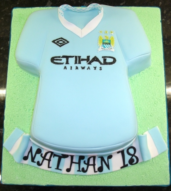 Image detail for -Manchester City Birthday Cakes Manchester City Football Shirt Cake ...
